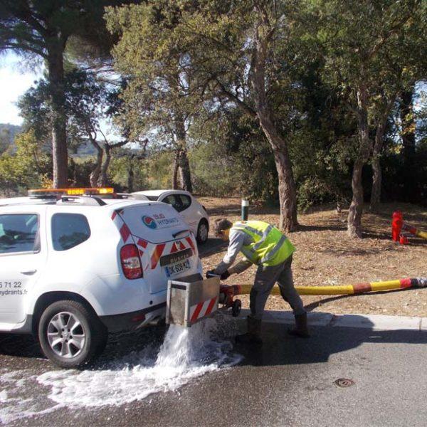Sud Hydrants Contrôle de poteaux incendie